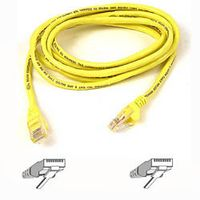 CAT 5 PATCH CABLE 1M MOULDED/ SNAGLESS YELLOW NS