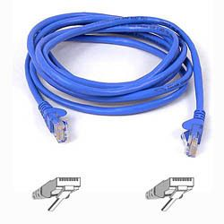 CAT 5 PATCH CABLE 10BASET MOULDED SNAGLESS 3M BLUE UK