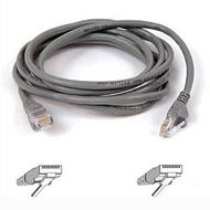 CAT 5 PATCH CABLE 10BASET MOULDED SNAGLESS 3M GREY UK