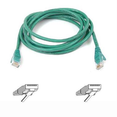 CAT5E SNAGLESS UTP 3M PATCH CABLE (GREEN) UK