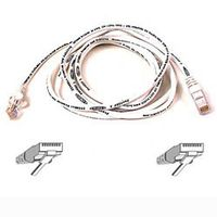 CAT 5 PATCH CABLE 1M MOULDED/ SNAGLESS WHITE NS