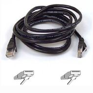 CAT 5 PATCH CABLE 15M MOULDED SNAGLESS BLACK UK
