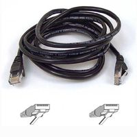 CAT 5 PATCH CABLE 10M MOULDED SNAGLESS BLACK NS