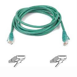 CAT 5 PATCH CABLE 1M MOULDED SNAGLESS GREEN NS