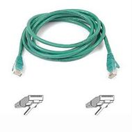 CAT 5 PATCH CABLE 1M MOULDED SNAGLESS GREEN UK