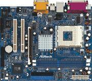 SiS 741GX Socket A (Socket-462) Integrert Mirage Graphics + AGP, ATA133, micro-ATX,  AMD Sempron/ Athlon/ Athlon XP/Duron