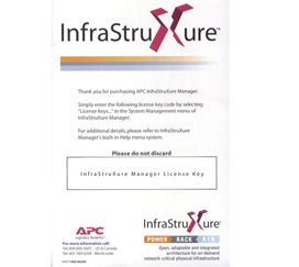 APC INFRASTRUXURE MANAGER 100 NODE LICENSE ONLY EN (AP9431)