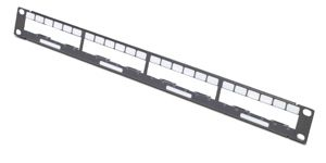 APC Data Distribution 1U Panel, Holds 4 each Data Distribution Cables for a Total of 24 Ports