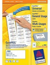AVERY White Labels 12TV 97 x 42,3mm 12 Labels/ Sheets **100-pack** (3659)