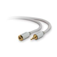 MINI STEREO EXT CORD 3.5MM STEREO M/F 18 IN