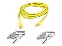 CAT 5 PATCH CABLE ASSEMBLED YELLOW 15M IN