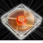 AKASA Ultra Quiet Amber Vifte 120mm, 1400 RPM, 44.8 CFM, 18.0 dBA (AK-183-L2B)