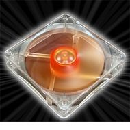 Ultra Quiet Amber Vifte 120mm, 1400 RPM, 44.8 CFM, 18.0 dBA