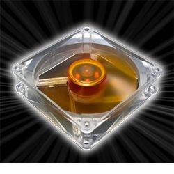 AKASA Ultra Quiet Amber Vifte 92mm, 1400 RPM, 29.0 CFM, 18.0 dBA (AK-184-L2B)