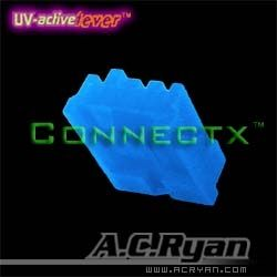 AC Ryan Floppy Power Connector UV Blue
