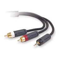 PUREAV DIGITAL BLUE 3.5MM A RCA X 2 - 1.8M IN