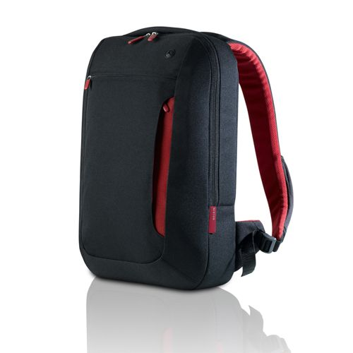 BELKIN Impulse Line Slim Back Pack for Notebooks up to 17' - Jet/ Cabernet (F8N159EABR)
