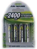 1x4 NiMH rech. battery Mignon AA 2400 mAh PHOTO