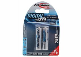 1x2 NiMH rech. battery 2850 Mignon AA 2650 mAh DIGITAL