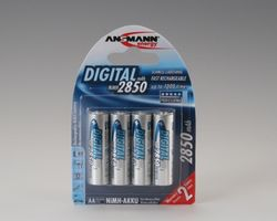 1x4 NiMH rech. battery 2850 Mignon AA 2650 mAh DIGITAL