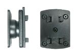 BRODIT Mounting plate w/Richter adapter - qty 1 - Mounting plate w/Richter adapter w/tilt