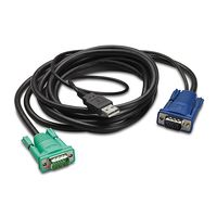 Integrated LCD KVM USB cable/ 12ft - 3m