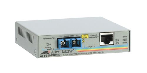 ALLIED TELESYN 10/100TX (RJ-45) to 100FX (SC) 2 port unmanaged switch (AT-FS202-60)