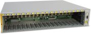 ALLIED TELESYN ALLIED 18 Slot Converteon Chassis AC Power inlet no power supplies included 2 Fans included.