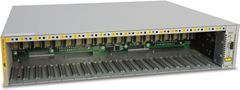 ALLIED TELESYN 18 Slot Converteon Chassis (AC Power inlet), no power supplies included. 2 Fans included.