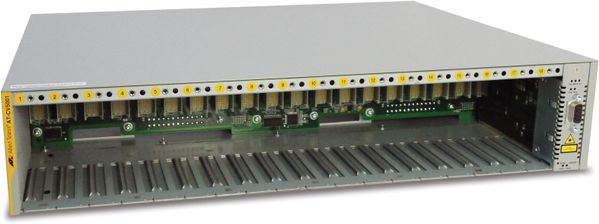 18 Slot Converteon Chassis (AC Power inlet), no power supplies included. 2 Fans included.