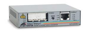 AT-MC1008/ GB-60 1000T TO GBIC MEDIA CONVERTER