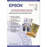 EPSON WATERCOLOUR WHITE PAPER A3 WATERCOLOUR PAPER NS