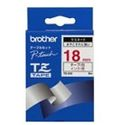 BROTHER PTOUCH TAPE RED/WHT 3/4IN