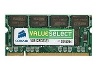 VS 512M SO DIMM DDR 333MHz, 64Mx64, Non-ECC,