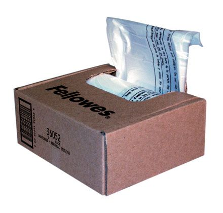 POWERSHRED WASTE BAGS 100PC/ ROLL FITS ALL PRSNL SHREDDERS
