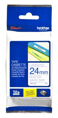 BROTHER P-TOUCH TAPE 24MM BLUE/ WHITE