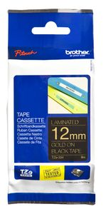 BROTHER P-TOUCH TAPE 12MM YELLOWD/ BLACK (TZ-334)