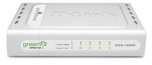 5-PORT GIGABIT SWITCH 10/ 100/ 1000 UNMANAGED IN