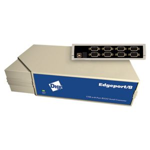 DIGI Edgeport/ 8s 8 port RS-232/ 422/ 485 software selectable DB-9 to USB Converter (301-1002-98         )