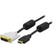 DELTACO CABLE HDMI (M) - DVI-D SINGLELINK (M) 7M