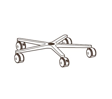 FP MOBILE WORKSTAND COMPONENTS BASE  CASTERS IN