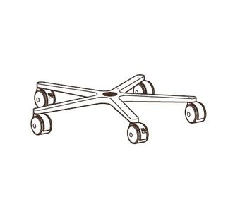 ERGOTRON FP MOBILE WORKSTAND COMPONENTS BASE  CASTERS IN (33-061)