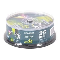 FUJI DVD-R 4.7 GB 16X CAKEBOX 25P SILVER (47495)