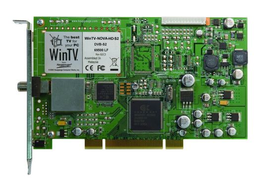WinTV Nova-S2 HD/PCI Satellite High Definition Dual Tuner -DVB-S2 and DVB-S card