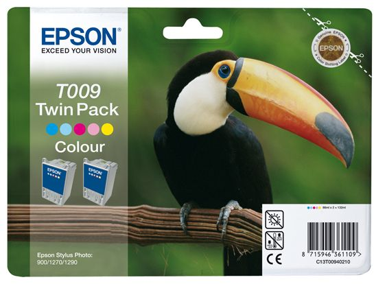 TWINPACK 2XCOLOR C13T009401 STYLUS PHOTO 900/ 1270/ 1290 NS