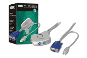 Mini KVM Switch 2-ports USB  *