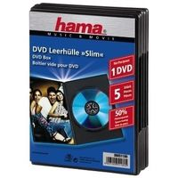 DVD-Box Slim Svart 5-pack
