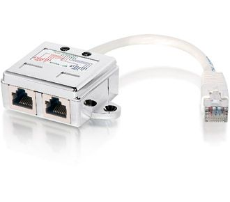 Split-adapter RJ45 Cat.5E 1>2