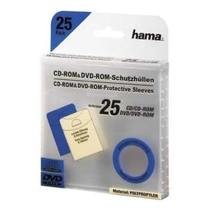 HAMA CD DVD-Ficka I PP Transparent 25-Pack (00033808)