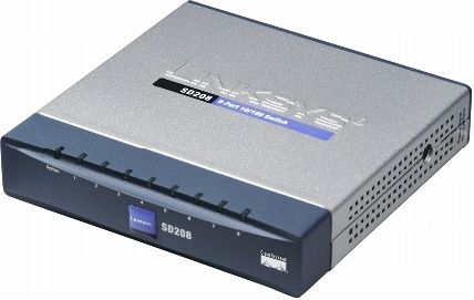 NETWORKING SWITCH SD208 8-PORT 10 100 SWITCH WORKGROUP SWITCH DESKTOP